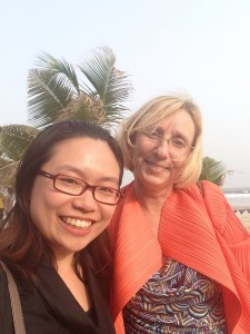 Me and West African senior actuary at beach in Ghana 與西非高級精算師在迦納海灘
