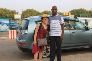 Me with our African driver when I left Togo 我在多哥與司機的合照
